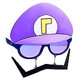 Costume Sunglasses Super Mario Purple Waluigi Sun-Staches Party Favors UV400