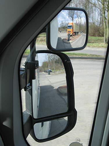 Preisvergleich Produktbild SafetyView Weitwinkelspiegel,  Toter-Winkel-Spiegel,  Zusatzspiegel für FIAT Ducato ab Bj. 2006,  mit Langen Spiegelarmen,  Set Links + rechts