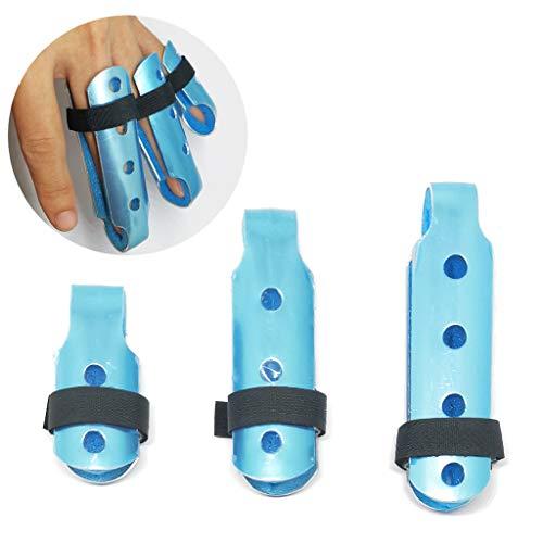 XMJESS Finger Splint Aluminum Finger Cots Finger Knuckle Support Brace for Arthritis Pain (S, M, L, Pack of 3)