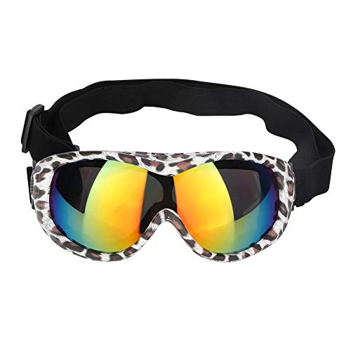 Bicaquu Mittelgroße UV-Hundebrille Sonnenbrille Haustier Skifahren Schutzbrille Brille(01)