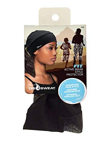 Dri Sweat Fit Womens Style Protector Cap, Black, 1 Pound