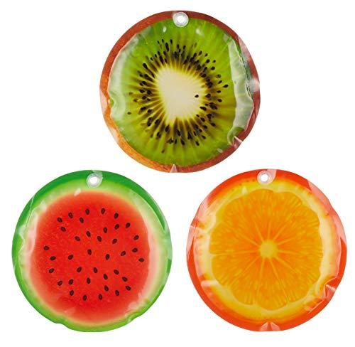 Set Kühlpad Kühlakku Kühkissen (3er-Set Früchte 16 x 16 cm)