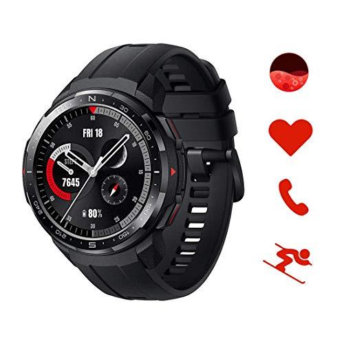 HONOR KAN-B19 Watch GS Pro Smartwatch Orologio Fitness Uomo Donna 25 Giorni di Batteria, Monitoraggio SpO2 Frequenza Cardiaca e Stress,1.39'' AMOLED, GPS 5ATM Impermeabile Smart Watch, Nero