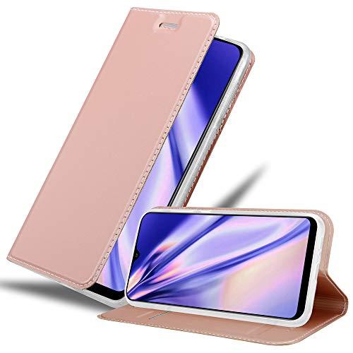 Cadorabo Custodia Libro per Samsung Galaxy A30S in CLASSY ORO ROSA - con Vani di Carte, Funzione Stand e Chiusura Magnetica - Portafoglio Cover Case Wallet Book Etui Protezione
