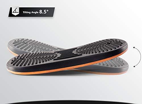Product Image 7: FEZIBO Standing Desk Anti Fatigue Mat Wooden Wobble Balance Board Stability Rocker with Ergonomic Design Comfort Floor Mat (Medium, Obsidian Black)