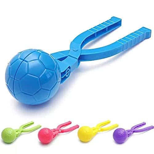 WHK Fabricante de Bolas de Nieve, Molde de fútbol con Clip para Hacer Bolas de Nieve, Juguete Deportivo para niños, muñeco de Nieve, Molde para Hacer Arena, Color de Juguete al Azar