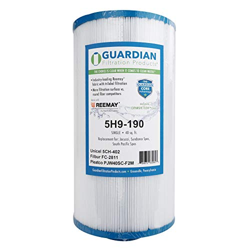 Guardian Pool Spa Filter Replaces 5CH-402 PJW40SC-F2M,FC-2811 Jacuzzi Whirlpool, Sundance, Del Sol Pool