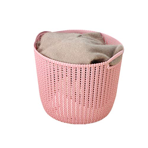 YuoungYuan bedroom storage baskets fabric storage baskets mini storage baskets small box for storage wicker storage basket baskets for storage pink
