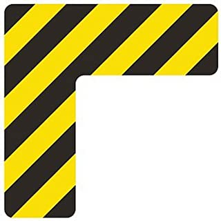 """5S Location Marking Dash 50 Pack Orange 2x6/"""" Dash Shaped Floor Sticker by Graphical Warehouse Vibrant Colors"""