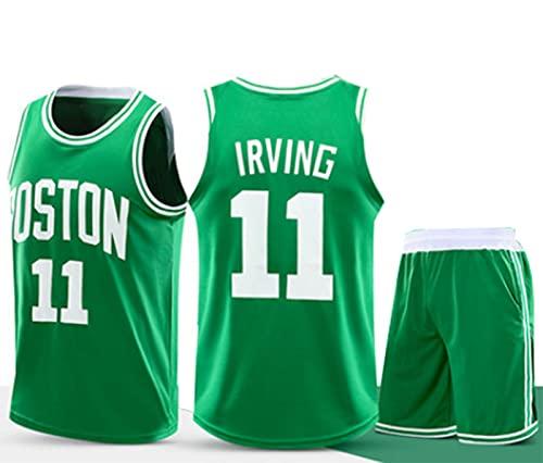 Nealpar Irving 11 Jersey Uniforme de Baloncesto para Niños Traje de Malla Deportiva Profesional Masculina, Traje de Estrella Sagrada,Green,XL