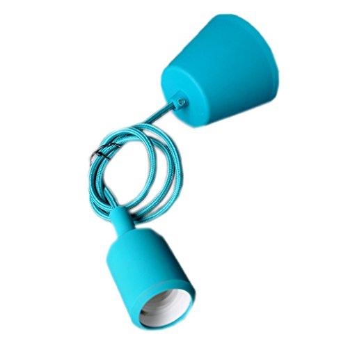 LU Chandelier Creative Lamp Lampe de couleur Lampe de tête Bar ( Couleur : Bleu clair )