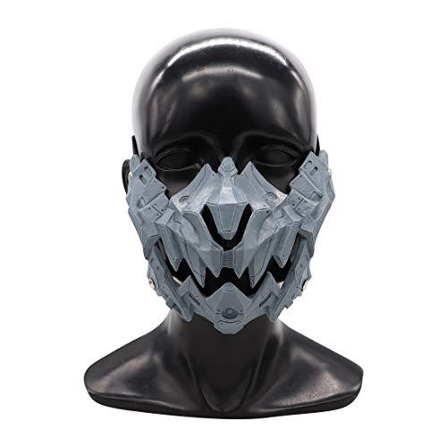PuuuK Japanische Tengu Maske Mechanische Schnabel Maske Legendäre Tiger Tengu Halbgesichtsmaske Halloween-Stützen,Tiger