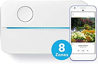 Rachio 3 Smart Sprinkler Controller, 8 Zone 3rd Generation, Alexa and Apple HomeKit Compatible with Hyperlocal Weather Intelligence Plus and Rain, Freeze and Wind Skip