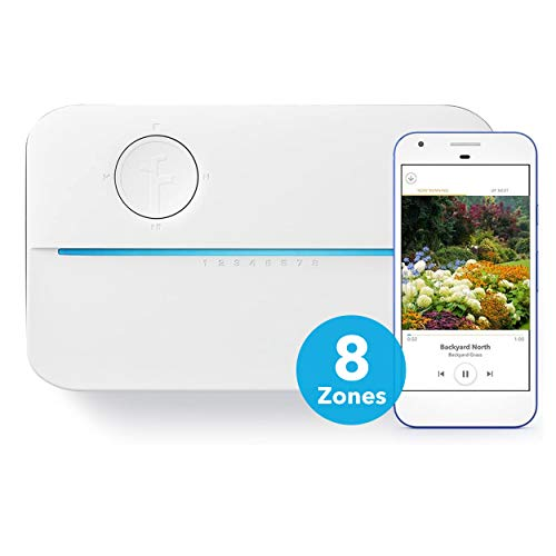 Rachio 8ZULW-C 3rd Generation: Smart, 8 Zone Sprinkler Controller, Works with Alexa