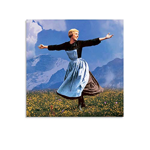 LINMEIMEI Póster vintage de película The Sound of Music Movie Póster de regalo para mujer, lienzo decorativo para pared, para sala de estar, dormitorio, 60 x 60 cm