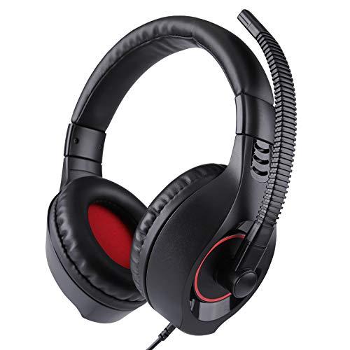 LALAHO Gaming Headset Headset Handy Notebook Desktop Computer Headset mit Mikrofon Rot