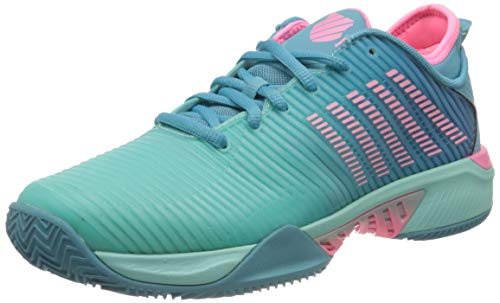 K-Swiss Performance Hypercourt Supreme HB, Zapatillas de Tenis Hombre, Azul (Aruba Blue/Maui Blue/Soft Neon Pink 433), 42 EU