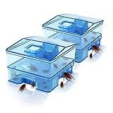 PESGONE - 2 trampa para cucarachas para cucarachas de 5 mejoras, seguro, eficiente, anti cucarachas, repelente grande sin contaminación para el hogar, oficina, cocina