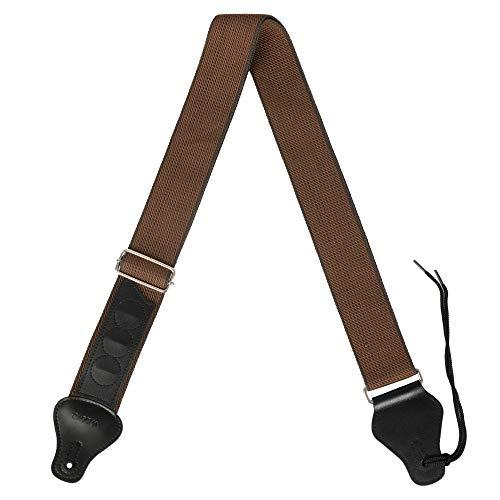 CASCHA Gitarrengurt, Tragegurt für Gitarre, verstellbar bis 158 cm, Braun