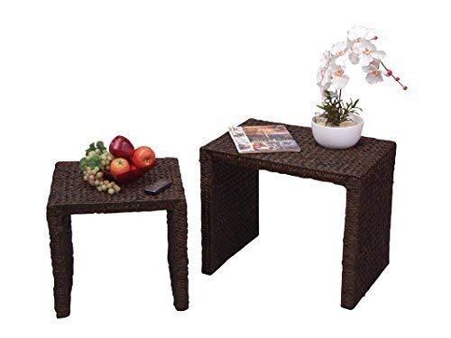 moebel direkt online Tables d'appoint Jeu de 2 Table d'appoint - brun foncé, 1: H51xB61xT41 und #2: H41xB46xT41