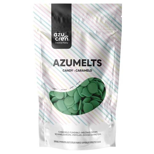 Azumelts – Dolce decorativo da sciogliere, per fare la drip e disegnare –250G (Verde)