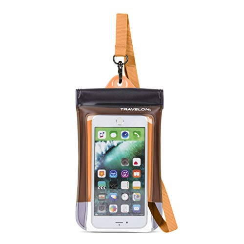 Travelon Floating Waterproof Smart Phone/Digital Camera Pouch, Orange Montana