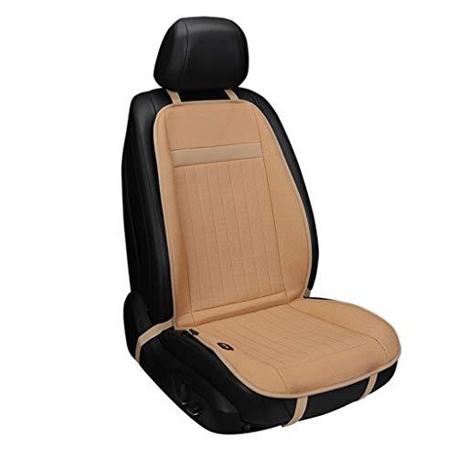 YU-SEAT Autostoelbeschermer, warm, verwarmd zitkussen auto, 12 V, sigarettenpakje, stekker voor personenauto's, vrachtwagens, campers