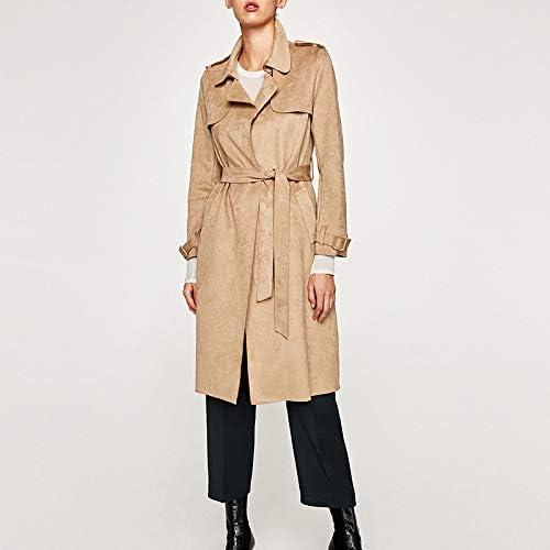 TJOIREJ Manteaux Femme Manteaux Femme Manteaux Femme Coupe-Vent d'hiver pour Femmes, Trench Coat, Kaki, M