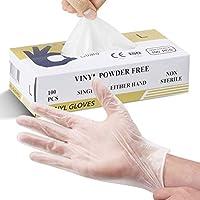 Splashes & Spills, Nicht medizinische Einweg-Vinylhandschuhe, Größe L, 100 Einheiten pro Karton