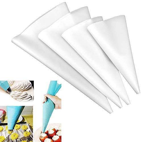 XGQ Herramientas 4 PCS Silicona formación de Hielo de Crema pastelera tuberías Bolsa Boquilla de Bricolaje de azúcar Que adorna (EVA Bolsa Azul 4 Mixta) (Color : EVA Bag White 4 Mixed)