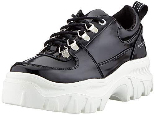 Pepe Jeans London Mayfair Soir, Zapatillas para Mujer, Black 999, 38 EU