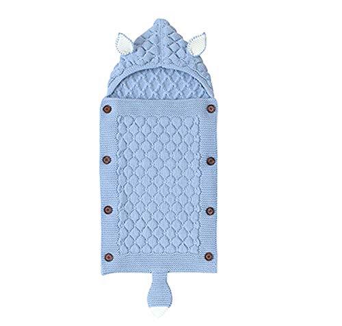 QYYL Saco de Silla de Paseo Universal, Envoltura de Cochecito de Bebé, Manta de Bebé, Saco de Dormir para Recién Nacido Saco de Cochecito para Niñas o Niños de 0 A 6 Meses (Light blue)
