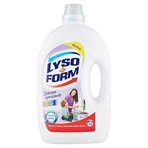 Lysoform Detersivo Igienizzante per Bucato, Colori Brillanti, 40 Lavaggi ( 2.6 litri)