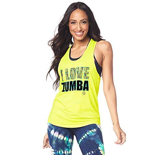 Zumba Fitness Dance Atlético Estampado Fitness Camiseta Mujer Sueltas de Entrenamiento Top Deportivo Loose Tank, Caution 0, XS