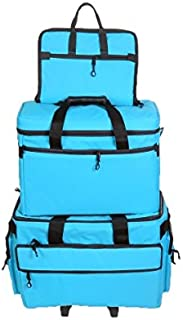 BlueFig TB19 Sewing Machine Carrier/Project Bag/Notion Bag (Aqua)