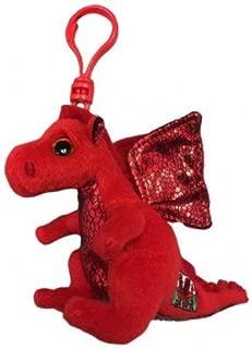 Ty Beanie Boos 'Y DDRAIG Goch' Welsh Dragon, Keyclip!