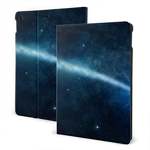 AlAlAl iPad Computer Case 2019 iPad Air3/2017 iPad Pro 10.5 Inch Case/2019 iPad 7th 10.2 Inch Case Night Blue Sky Tree Of Meteor Galaxy Mountain Childproof iPad Case Auto Wake/sleep