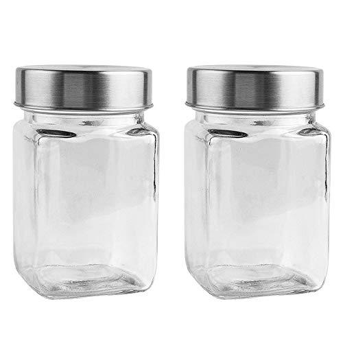 Gläser mit Schraubverschluss | 2 Stück | 6,7 cm x 6,7 cm x 11 cm | Füllmenge: 240 ml