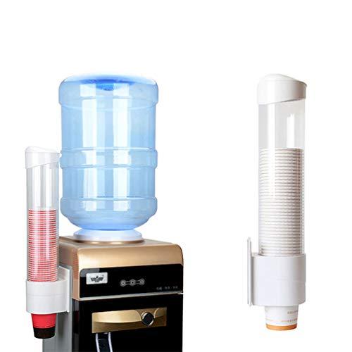 LBTrading Tassen Spender Wandhalterung für biologisch abbaubare Kunststoff Papier Kegel Tassen Zuhause Büro Schule (Weiß, L)