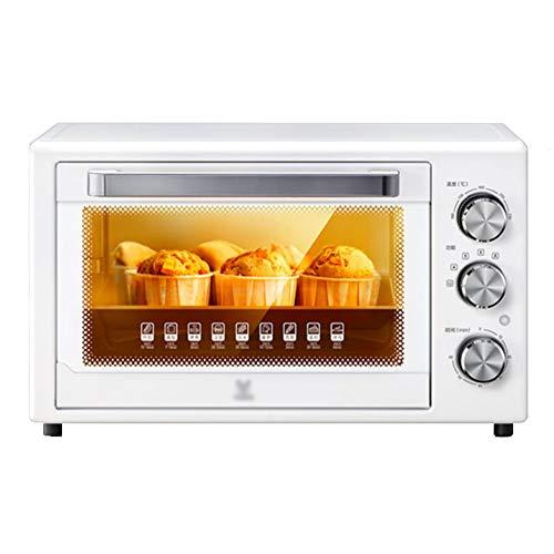 Toaster oven STBD-Four Multifonction ménager 1500W avec Fourchette rotative à 360 °, Plaque de Cuisson, Fourchette et ramasse-miettes grillés, Grille-Pain pour Table de Cuisine