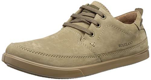 Woodland Men's Khaki Leather Casual Shoes - 10 UK/India (44 EU)
