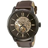 Fossil Men's Townsman Auto Automatic Leather Multifunction Watch, Color: Black, Brown (Model: ME3155)