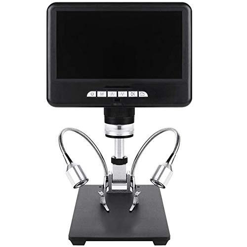 April Story 3D Video Microscopio Digital 100X 7 LCD 1080P Teléfono de Microscopios USB Herramienta de Reparación de Soldadura Multi Ángulo Ajustable Soporte Tres Fuentes de Luz LED