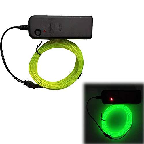 5 / 10m3v Batteriekasten Set, Neon Glowing Strobing Elektrolumineszenzdraht/El Draht für Weihnachtsdekoration, Partys, Festival, DIY, Auto, Kleidung Dekor
