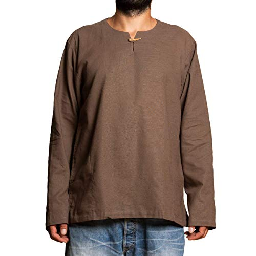 PANASIAM Shirt T01, cotton, brown, L, longsleeve