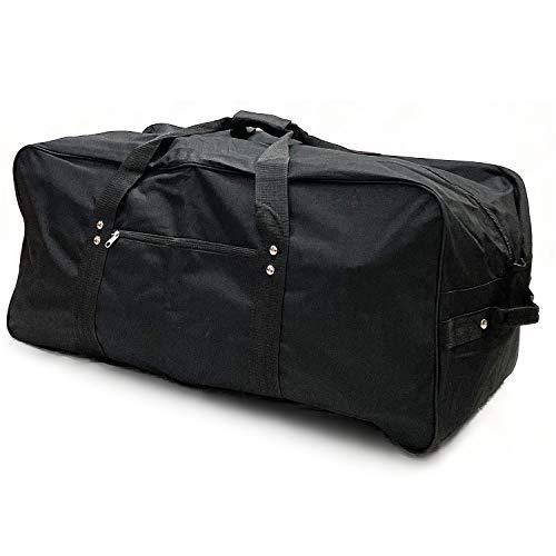 Telosports Heavy Duty Cargo Duffel Large Sport Gear Drum Set Equipment Hardware Travel Bag Rooftop Rack Bag (32' x 14' x 14', Black)