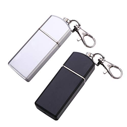 LHKJ Mini Cendrier de Poche Portable Porte-Cendrier avec Couvercle Cl/é Cha/îne,Fait en Alliage de Zinc