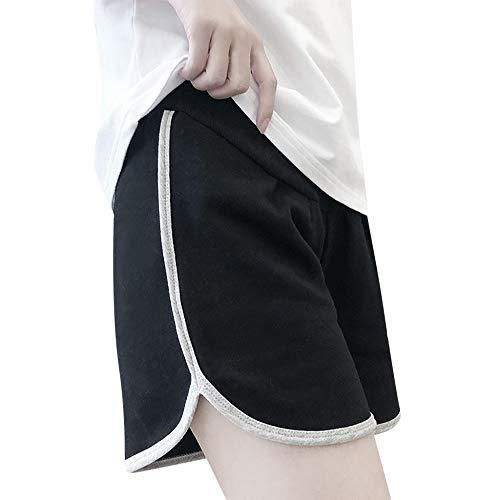 Umstandsmode Shorts Elastische Kurze Jeanshose Straight Sport Jeans Leggings für Schwanger Umstandsshorts Komfortable Mutterschaft Yogahose Schwangerschafts Yoga Umstandsleggings