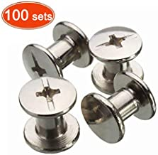 Chicago Binding Screws Sex Bolt Barrel nut Barrel Bolt Post Screw Phillips/Cross Head, Suitable for All Kind of Art and Leather, Made of Stainless Steel Never Rust, Length 1/4