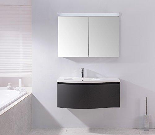 Spiegelschrank Multy BS100 mit LED-Beleuchtung - Breite 100cm